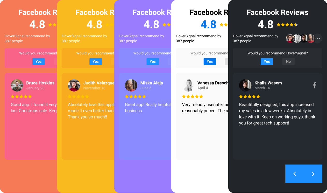 Hoversignal — Facebook Reviews